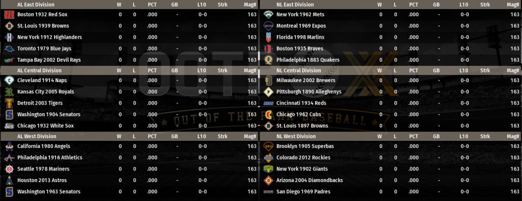 FLB Inaugural Season Teams
